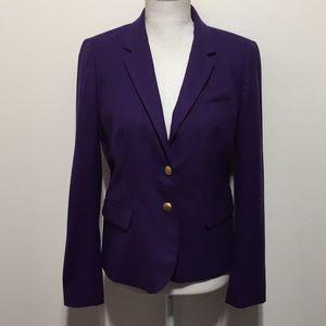 J Crew Purple Schoolboy Blazer